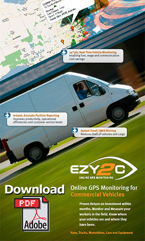 Ezy2c Online GPS Monitoring for Commercial Vehicles Brochure