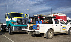 IAE servicing Toll Ipec trucks