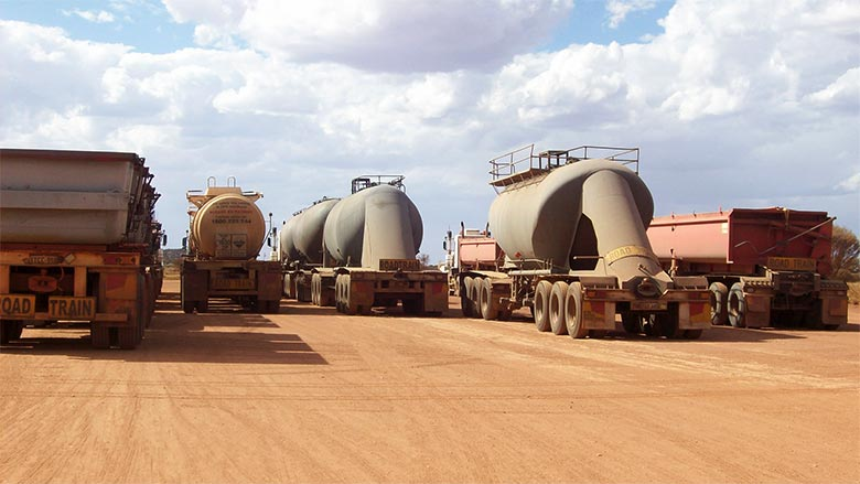 Heavy Vehicle Transport Fleet at WA Mine Site