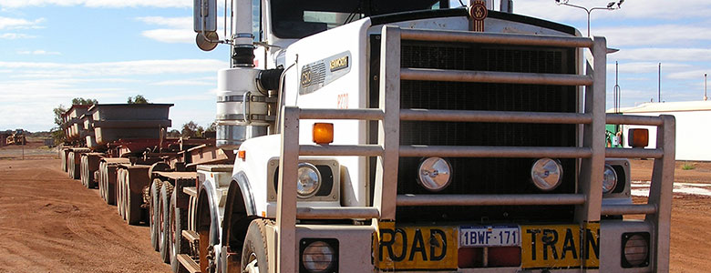 Kenworth Road Train fitted with GPS fleet management tracking system