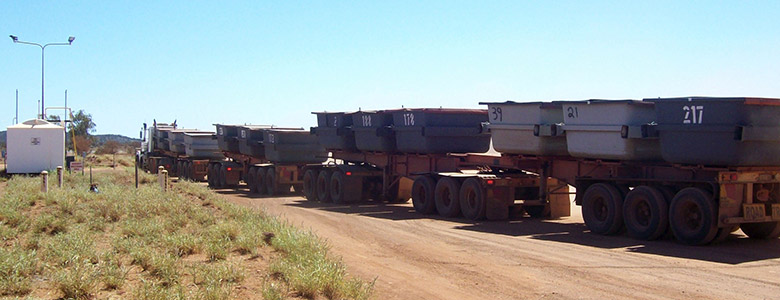 Mine Road Train