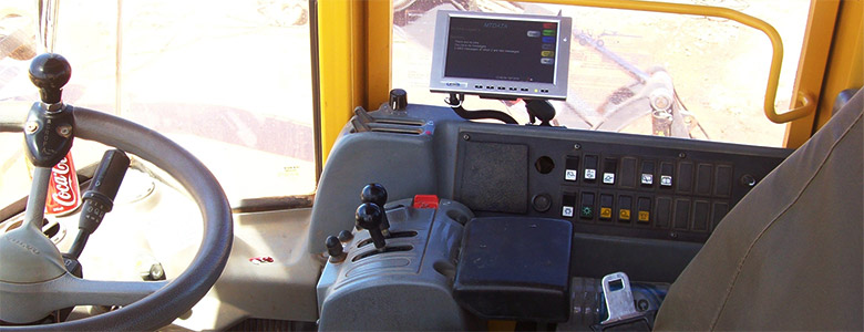 MTData GPS Fleet Management Tracking System in Digger